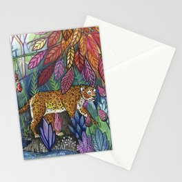 Leopard under leaves Stationery Cards