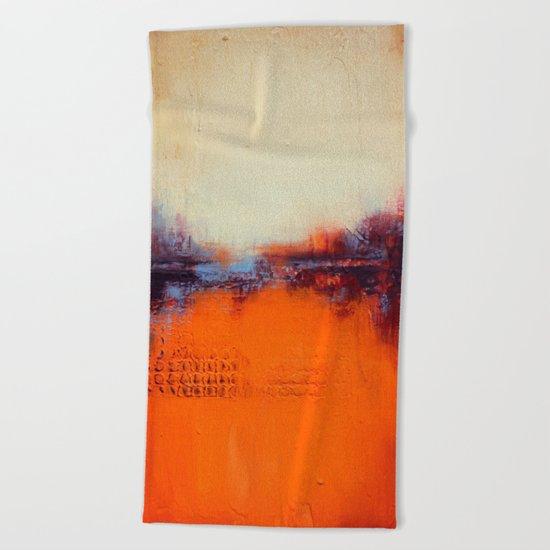 Orange and White Beach Towel