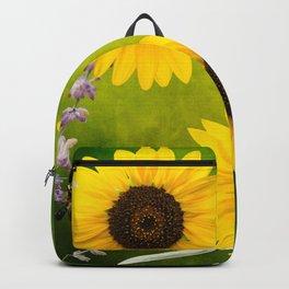 Sunflowers. Backpack