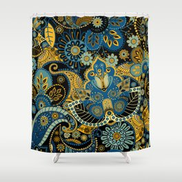Khokhloma floral pattern Shower Curtain