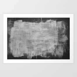 Minimal Black and White Abstract 07 Texture Art Print