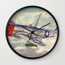 P-47 Thunderbolt Wall Clock