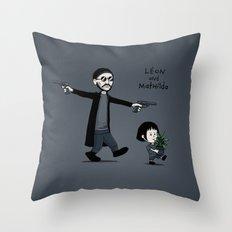 Leon and Mathilda Throw Pillow