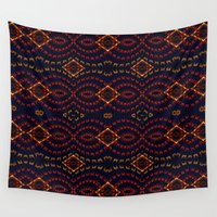 ferris wheel Wall Tapestries featuring Ferris Wheel Abstract by Corbon Byrne