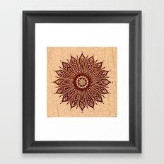 ozorahmi wood mandala Framed Art Print