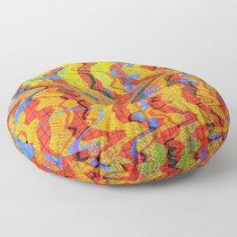 Scrambled Primaries Floor Pillow