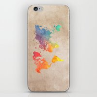 world maps iPhone & iPod Skins featuring World Map Maps by jbjart