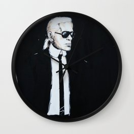 Karl Lagerfeld back in black Wall Clock