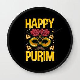 Happy Purim - Gift Wall Clock