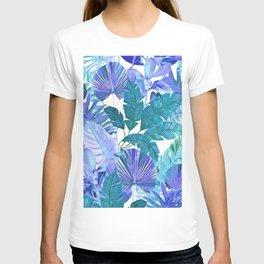 Tropical Leaf Blue T-shirt