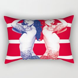 Twins - double trouble Rectangular Pillow