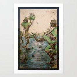 the grasslands Art Print