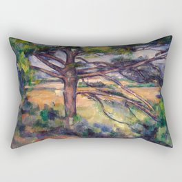 Paul Cézanne - Grand pin et terres rouges (Large Pine and Red Earth) Rectangular Pillow