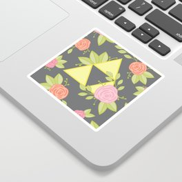 Garden of Power, Wisdom, and Courage Pattern in Grey Sticker