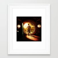 lord of the rings Framed Art Prints featuring THE LORD OF THE RINGS by September 9