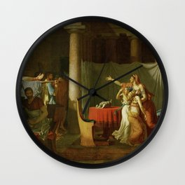 Jacques-Louis David - The Lictors Bring to Brutus the Bodies of His Sons Wall Clock