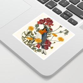 Little Bird and Flowers Sticker
