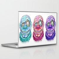 clown Laptop & iPad Skins featuring Clown by Kikillustration