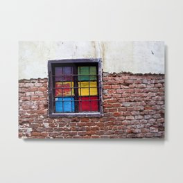 Window of Many Colors Metal Print