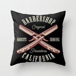 Barbershop California Throw Pillow