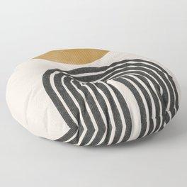 Mid Century Modern Graphic Floor Pillow