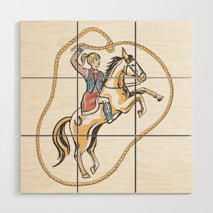 Ride 'em Cowgirl! Wood Wall Art