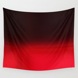 Red Ombré Block Design Wall Tapestry