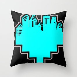 HeArt of the Cities Throw Pillow