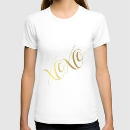 XOXO Gold Foil Print - Love Quote Print - Positive Quote - Lettered Print - Positive T-shirt