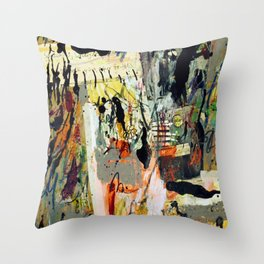 Trippy Flower, Old Time Truck Throw Pillow