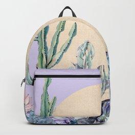 Desert Sun + Gemstones Gold Light Purple Backpack