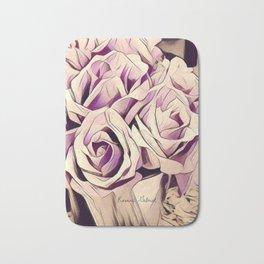 blush roses, lilac living, lilac floral, floral decor Bath Mat