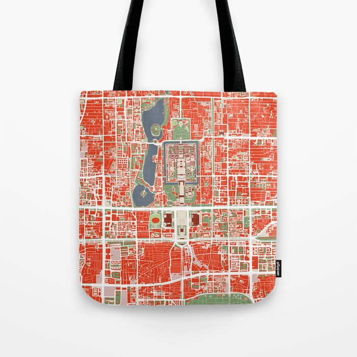 35a08c5570ec3 Beijing city map classic Tote Bag by planosurbanos