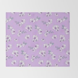 Mom's Orchids Throw Blanket