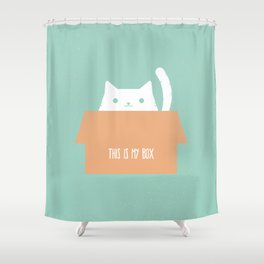 This is My Box Shower Curtain