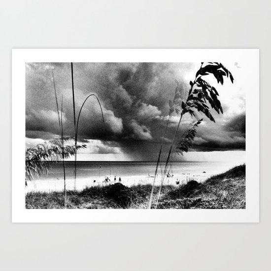 Stormy Beach Art Print