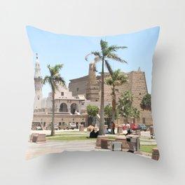 Temple of Luxor, no. 16 Throw Pillow