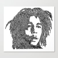 marley Canvas Prints featuring Marley by Travis Poston