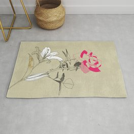 The rose and the lily Rug