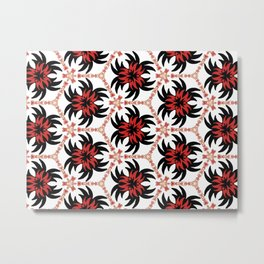 Frantic from the Black & White & Red All Over Collection Metal Print