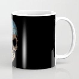 Dark Skull with Flag of Estonia Coffee Mug