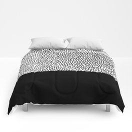 Dots and Black Comforters