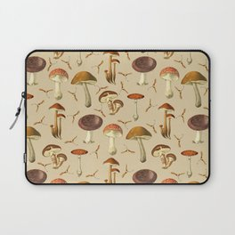 Wild Forest Mushroom Pattern Laptop Sleeve