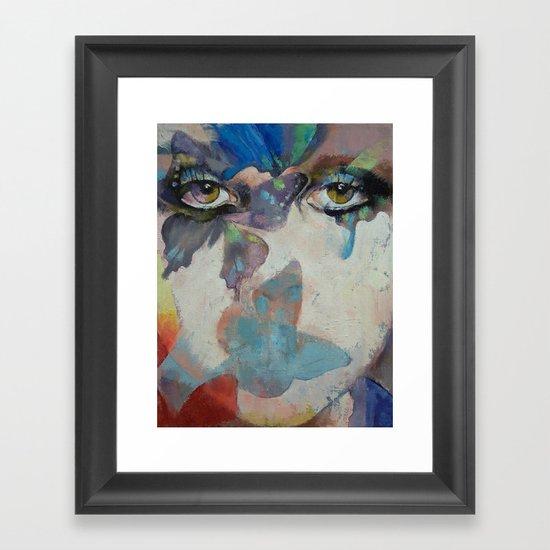 Gothic Butterflies Framed Art Print