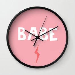 Babe Lightning Wall Clock