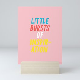 Little Bursts of Inspiration Mini Art Print