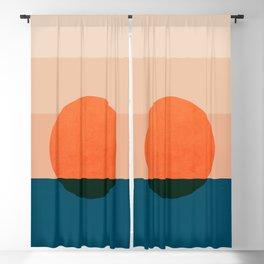 Abstraction_Sunset_Ocean Blackout Curtain