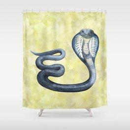 Cobra on Limegreen Background Shower Curtain