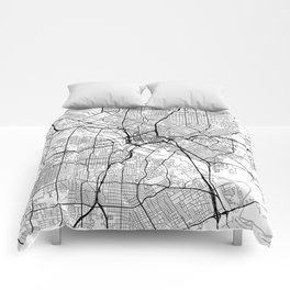 Dallas Map White Comforters