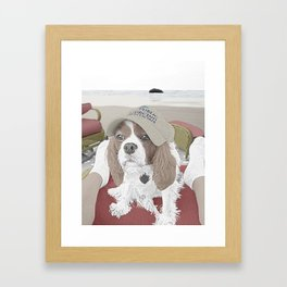 Spaniel at the Beach Framed Art Print